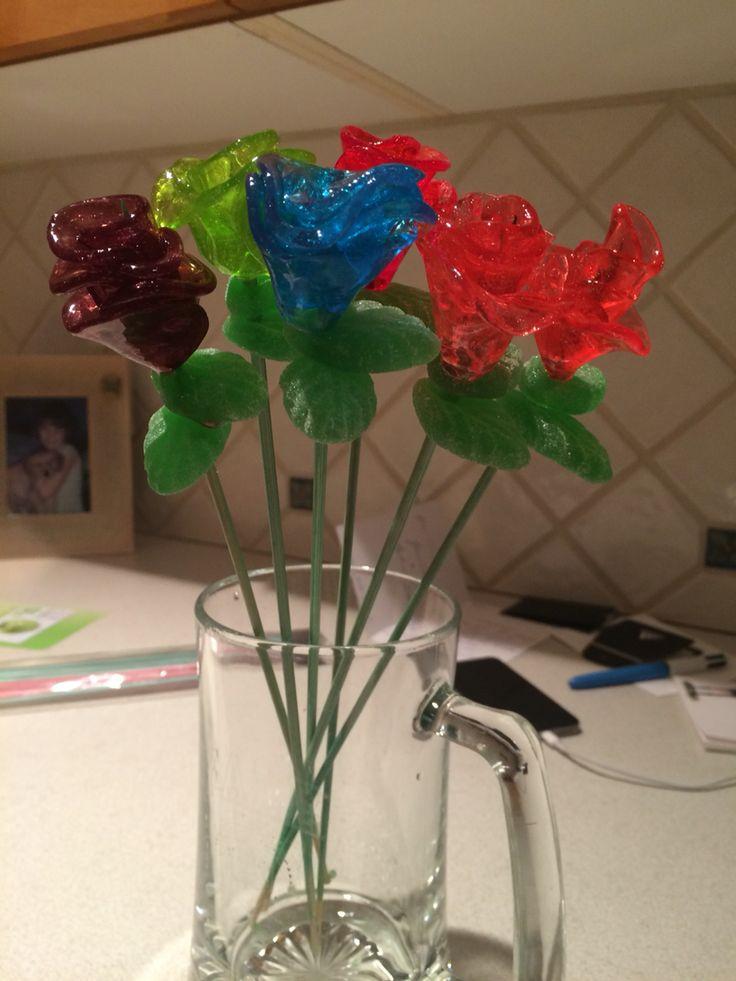Handmade jolly rancher roses!