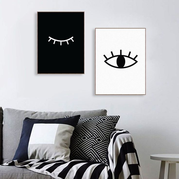 Abstract Minimalist Eyes Poster Modern Nordic Home Wall Art Deco Canvas  Painting