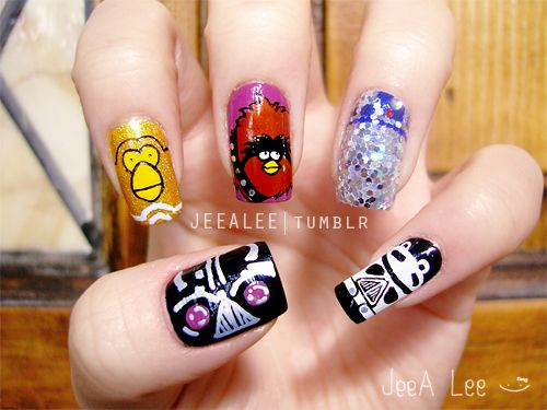 Angry Birds Star Wars  #nail #nails #nailart