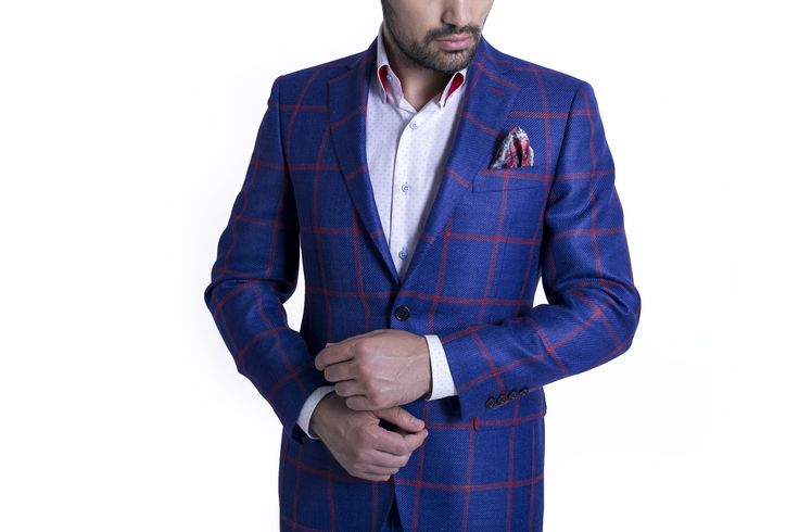 Nothing catches the eye of the beholder quicker than the combination of blue and red. The powerful blue with the red checkers will always be the star of any wardrobe.