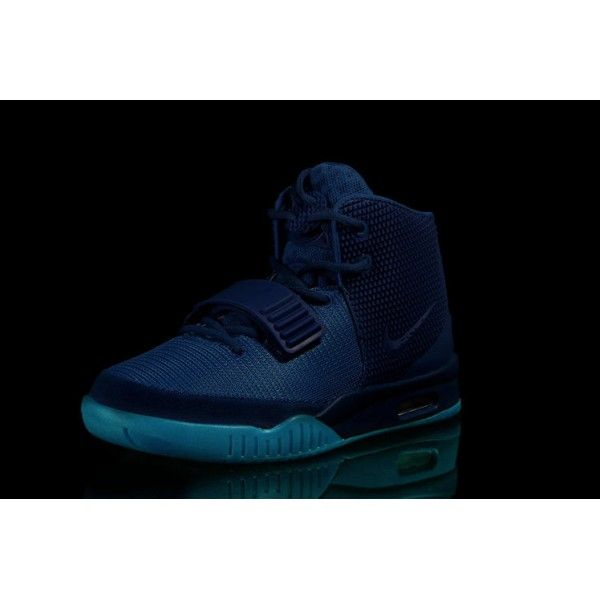 buy genuine mens nike air yeezy 2 gamma blue glow in the dark basketball  shoes