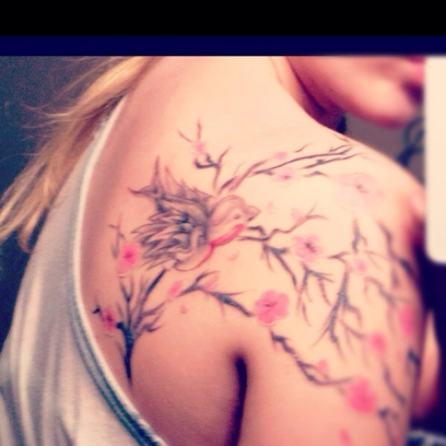 Love the Cherry Blossoms Hmmm Maybe Next Tat ...