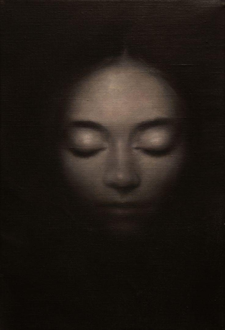 Exaltation, oil on canvas 25*17.5