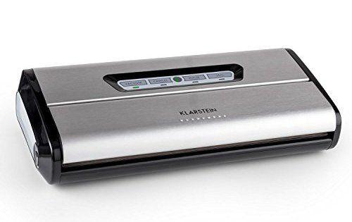 Klarstein Foodlocker Appareil de mise sous vide conservation des aliments aspiration automatique (pression -0,8 bar, vitesse 16 l/min, 10…