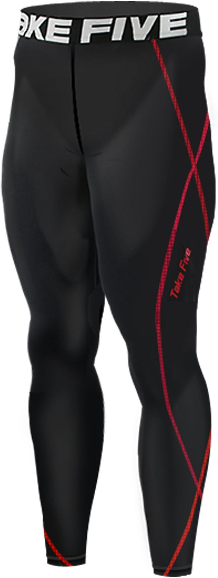 New 197 Black Skin Tights Compression Leggings Base Layer Running Pants Mens (M). Mens long Pants compression Tights made using Take Five technology. Compression fit bolsters muscle support and increases circulation. UVA/UVB Protection - Take Five compressoin protects your skin from UVA/UVB radiation during your outdoor workout. Great for skiing, snowboarding, training, competing, and all weather sports and activities. Machine washable.