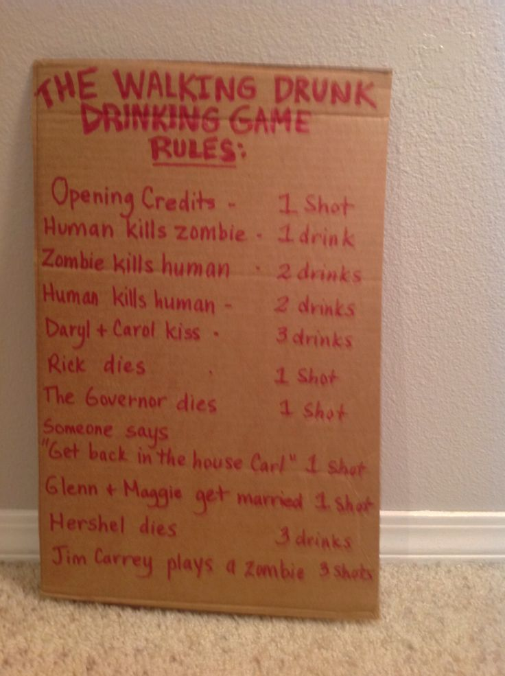 playing this the walking dead party sunday - Halloween Party Rules