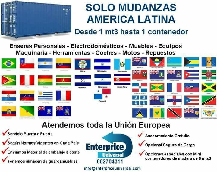#MudanzasAmericaLatina  desde la union europea. Servicio puerta a puerta.  info@enterpriceuniversal.com https://t.co/mquJyZGFuH
