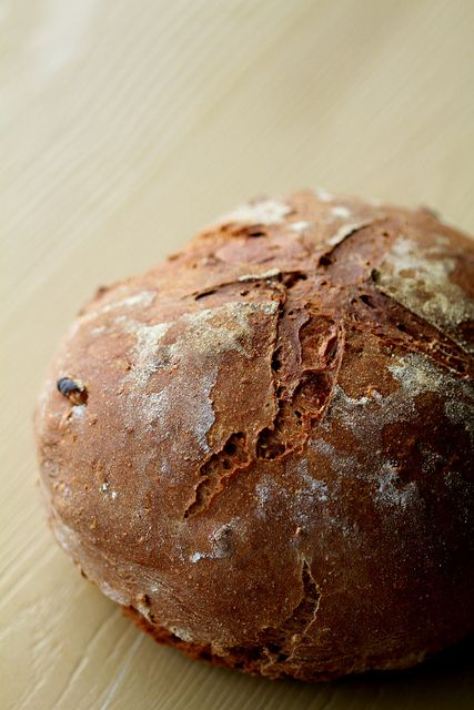 Wholewheat, Ragi, Oat and Chocolate Bread with Walnuts