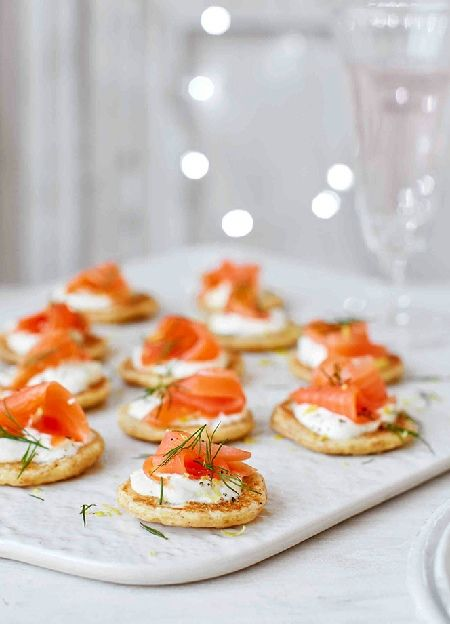 25 best ideas about smoked salmon blinis on pinterest for Gluten free canape ideas