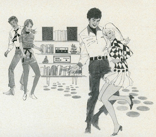 Columbia Record Club spot illustration, 1970 by MewDeep on...