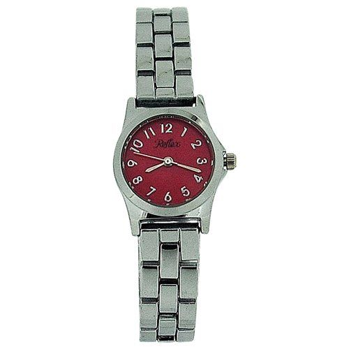 Reflex Ladies Analogue Pink Dial Silver Tone Metal Bracelet Strap Watch LB104