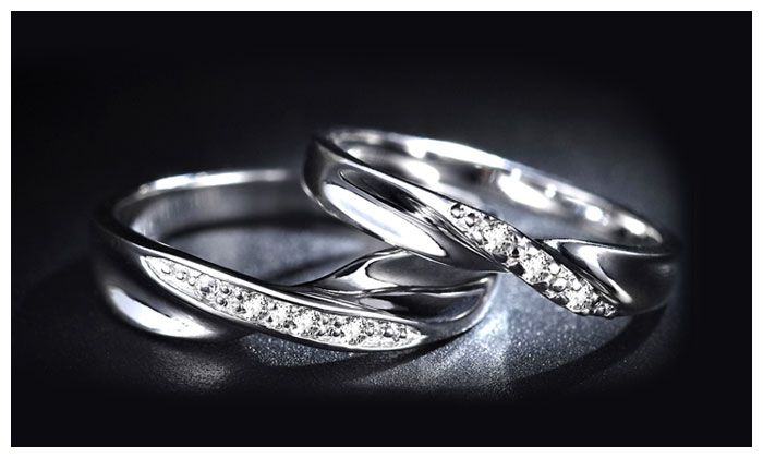 Unique Infinity Promise Rings for Couples, Sterling Silver Twisted Wave Wedding Ring Band with CZ Diamond Accents, Matching Couple Jewelry Set for Him and Her : iDream Jewelry