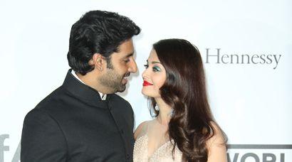 Cannes 2014.    Bollywood King and Queen – Abhishek, Aishwarya Rai Bachchan steal the show at amfAR in Cannes 2014