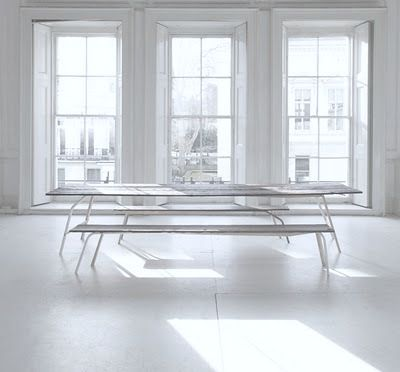 long tables + benches