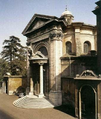 Sant'Andrea al Quirinale (exterior view) - designed by Gian Lorenzo Bernini.  1658-61.  Sant'Andrea al Quirinale, Rome, Italy.