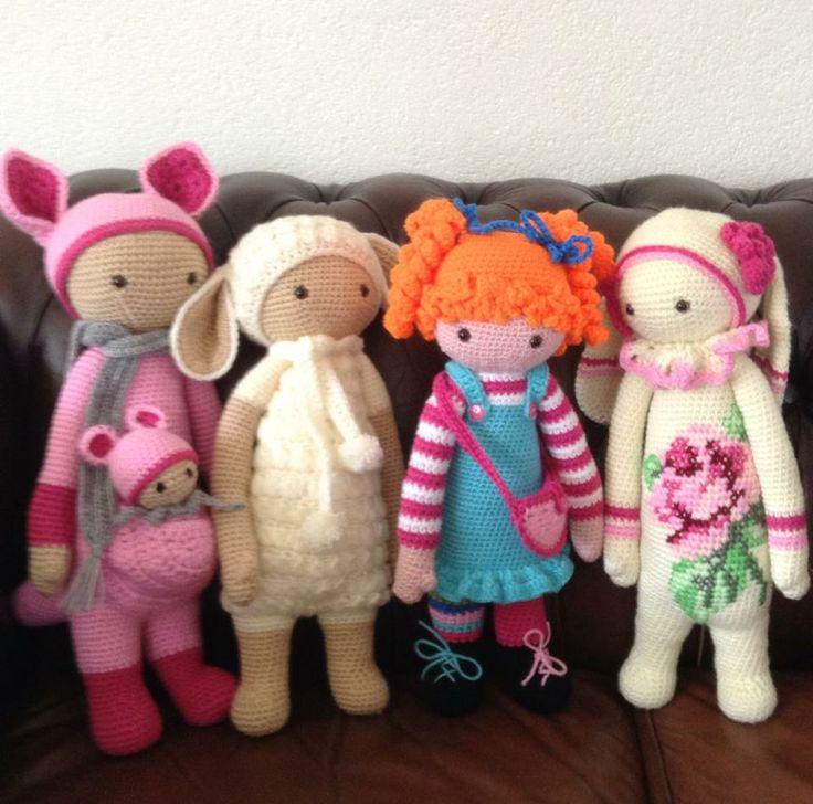 Lalylala family made by Irene J.-K. / crochet patterns by lalylala
