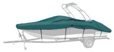 "Taylor Made Trailerite Semi Custom Boat Cover Euro Style Tournament Ski Boat Wakeboard Tower - Teal - 96"" - 17'5""-18'4"""