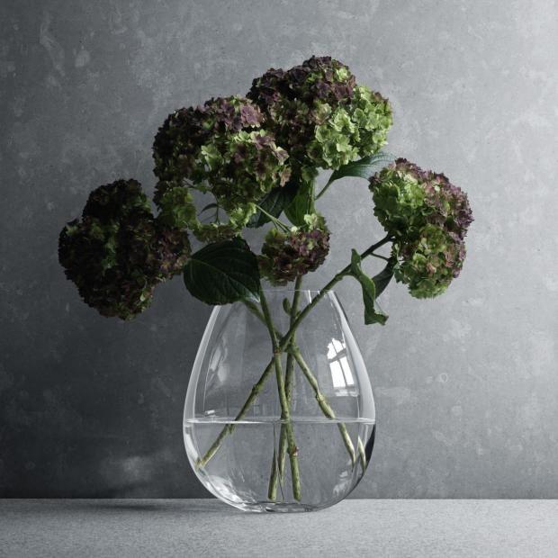 """Vase """"Facet"""" von Georg Jensen aus Glas"""