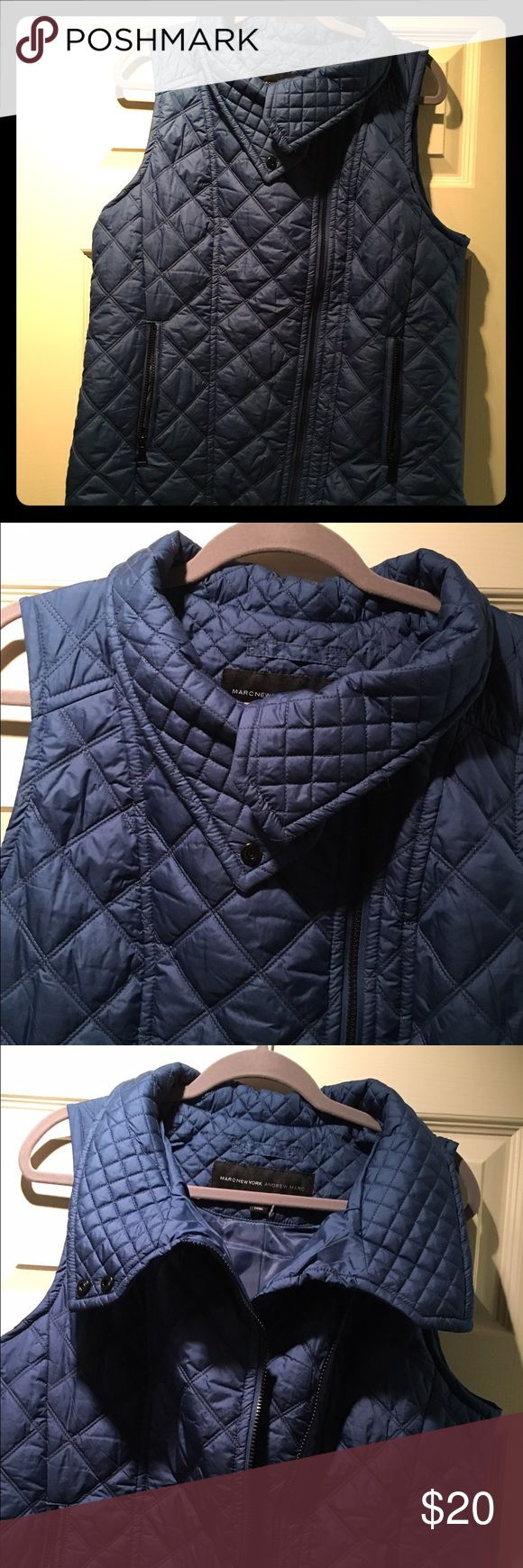 💙💙 Marc New York Andrew Marc Blue Vest. Sz L💙💙 💙💙 Marc New York Andrew Marc Blue Vest. Sz L💙💙 New Without Tags. Adorable vest! Super cute zipped up or down. Smoke free/pet free/quick shipping. Andrew Marc Jackets & Coats Vests