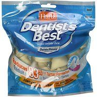 Hartz Dentist's Best Rawhide Dentashield Bone Dog Treats, 7-oz