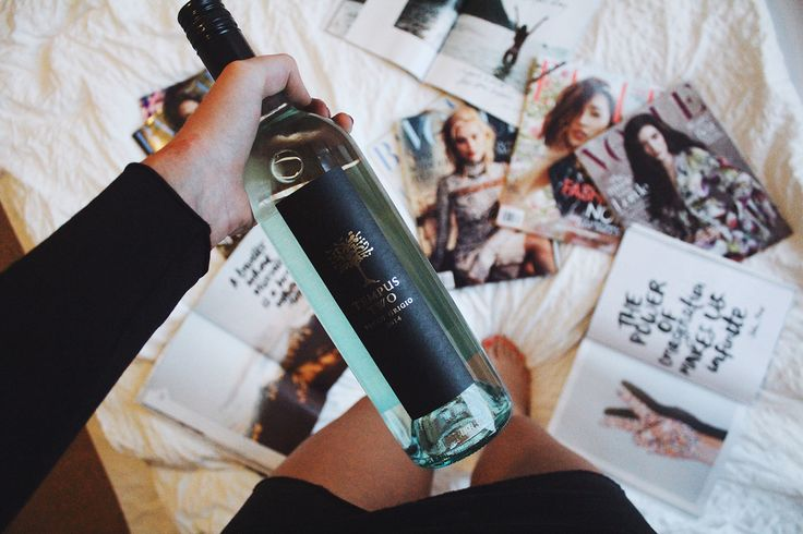 Wine and magazines