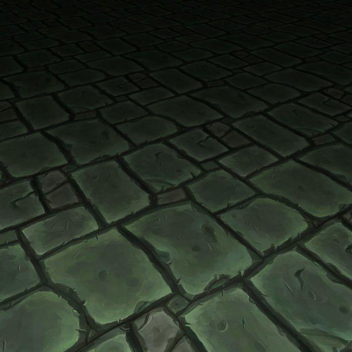 Hand painted stone floor texture