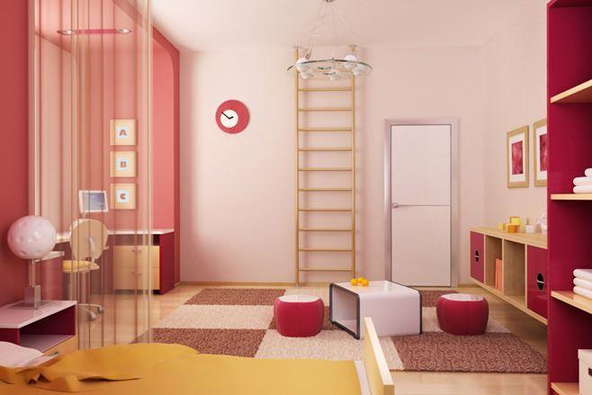 зоны в детской комнате