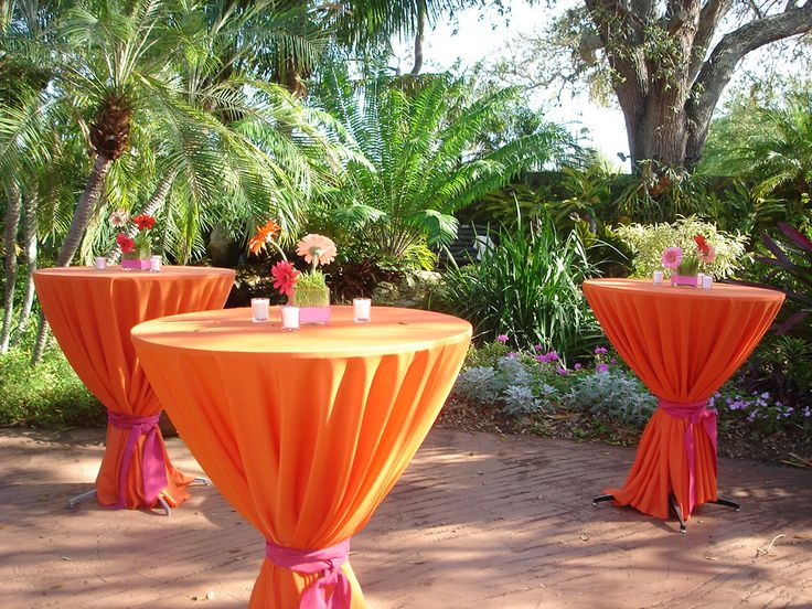 outdoor backyard summer party  | Sarasota Garden Club-Wedding and Cocktail Party Reception – Flowers ...