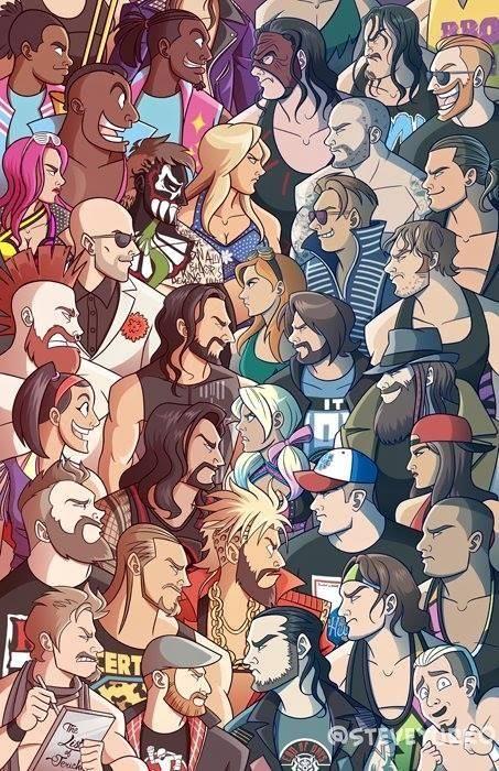 RAW vs Smackdown #wrestling