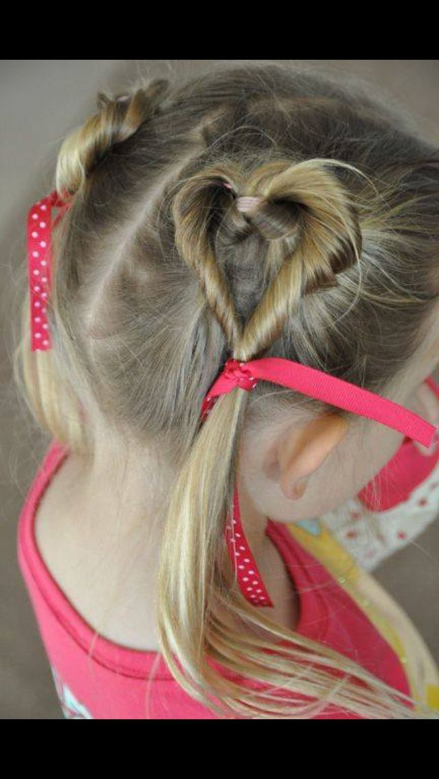 Valentines toddler hairstyle