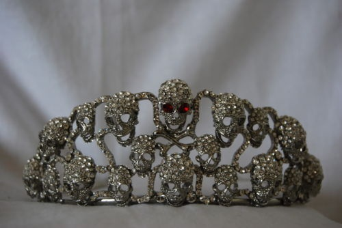 Butler & Wilson Crystal Skull Tiara.. queen of the dead is what i would wear it for..