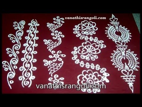 Many of you have asked me about the basic finger techniques of releasing rangoli…