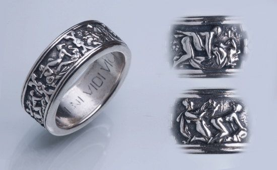 Silver erotic band, Ring for him, Ring for her, Mens ring ...