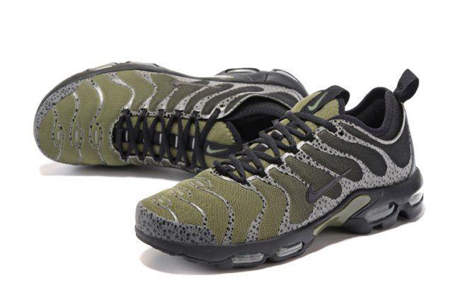 70494c8ae13b Elegant Shape Nike Air Max Plus TN Ultra Sneakers Army Green Black Men s  Running Shoes 881560