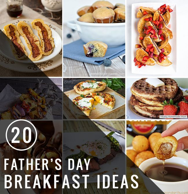 20 Best Father's Day Breakfast Ideas. With Father's Day creeping up slowly it's time to plan what to cook him!