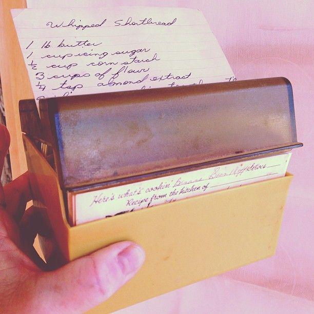 my retro recipe box