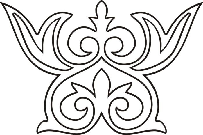 орнамент цветы казахский картинки