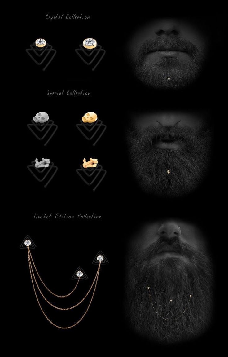 Beard Jewelry Krato Milano design industrial design product hipster kickstarter