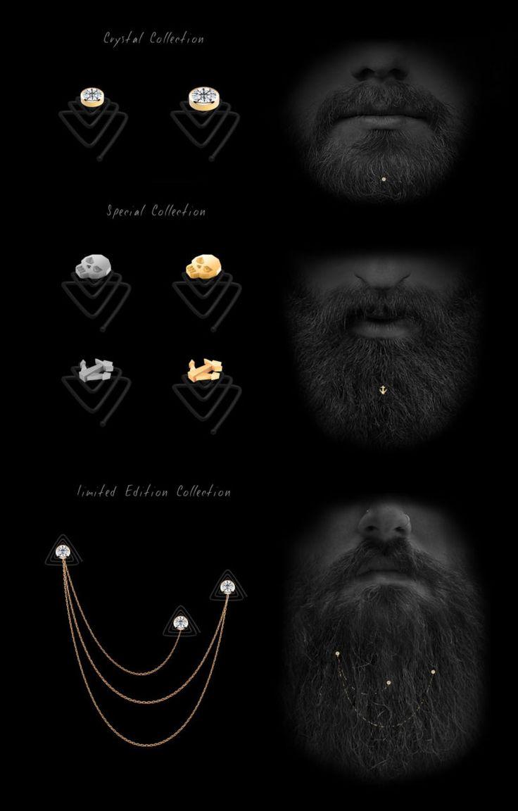 Beard Jewelry Krato Milano design industrial design product hipster kickstarter