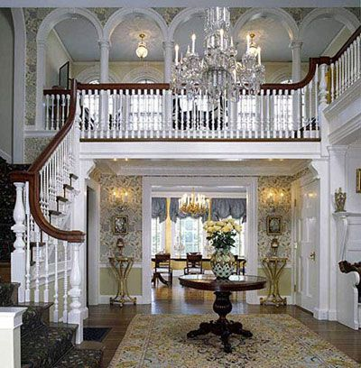 Colonial revival litchfield ct interior design town - Colonial style homes interior ...