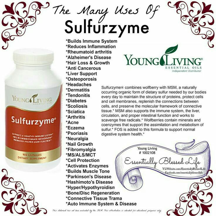 13 Best Images About Sulfurzyme Young Living On Pinterest