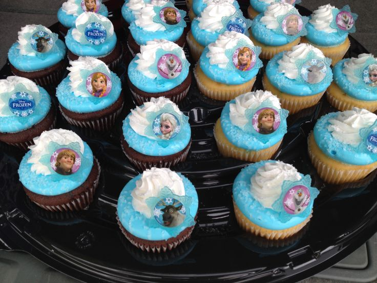 frozen themed cupcakes walmart