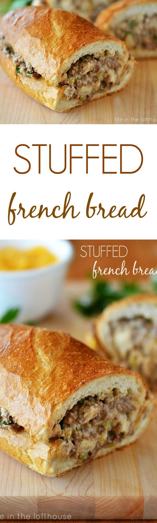"""""""This stuffed French bread is sooo good!"""" 