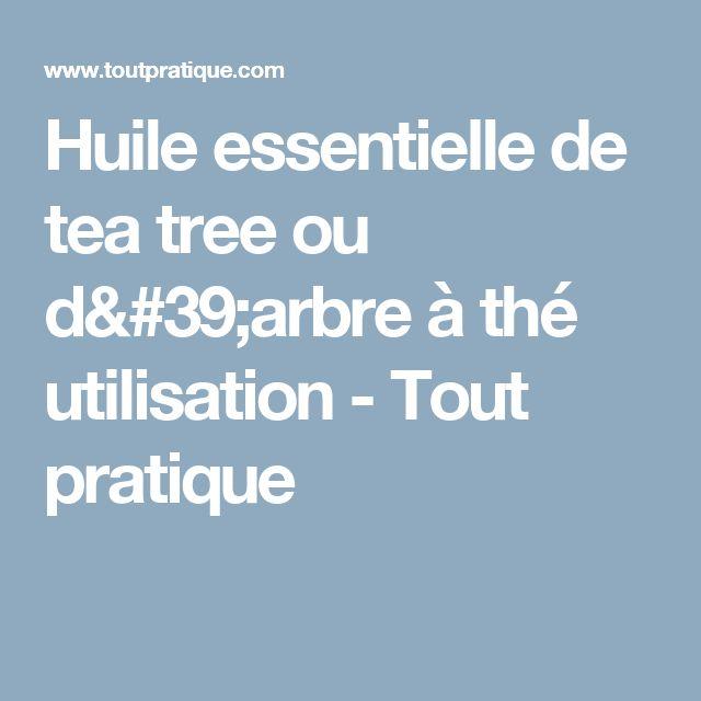 Huile essentielle de tea tree ou d'arbre à thé utilisation - Tout pratique