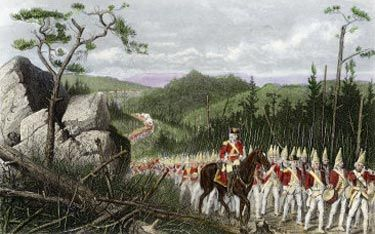 Braddock Marching to Fort Duquesne | Battle of the ...
