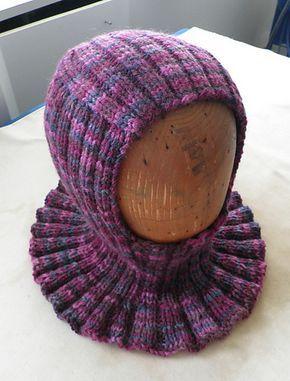 Ravelry: Knit Medieval Hood Helmet Hat Free Pattern pattern by Maria Merlino