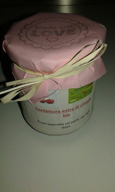 Confettura di ciliege biologiche Az Agricola Profumi di Campagna di Cimone di Trento
