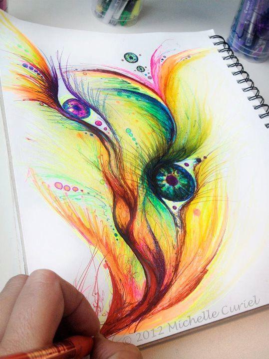 Eye flow freely  8 x10 Original art unframed in by michellecuriel, $59.99