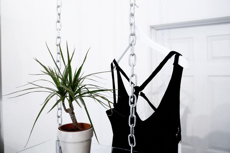 The amazing Winona jumpsuit from Little Black Wardrobe , just hanging out with Steve our store plant    www.whitedirt.co.uk