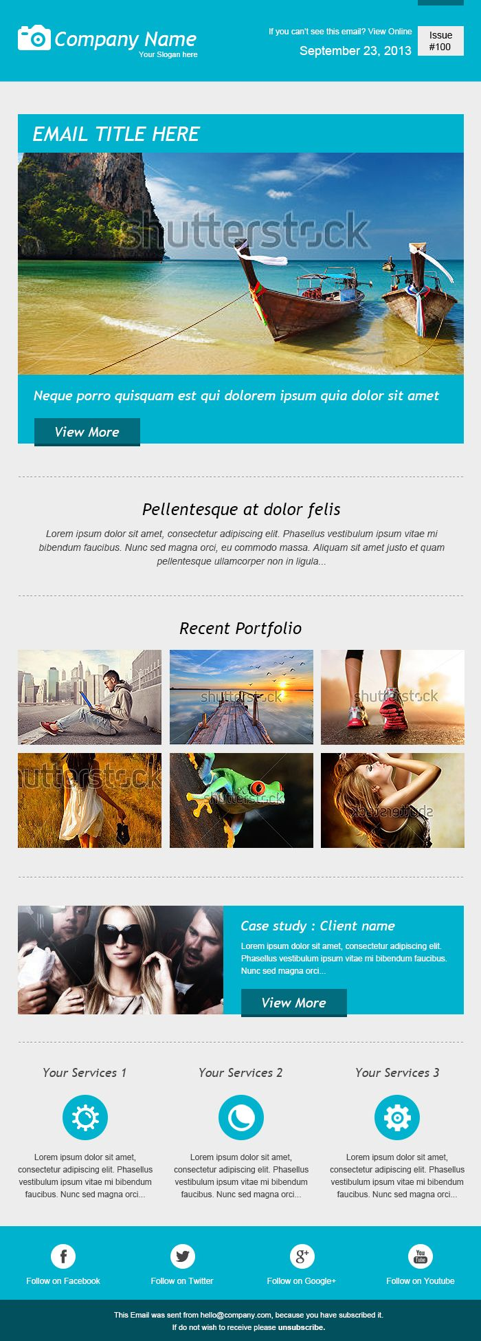 25 best ideas about Html Newsletter Templates – Sample Html Email